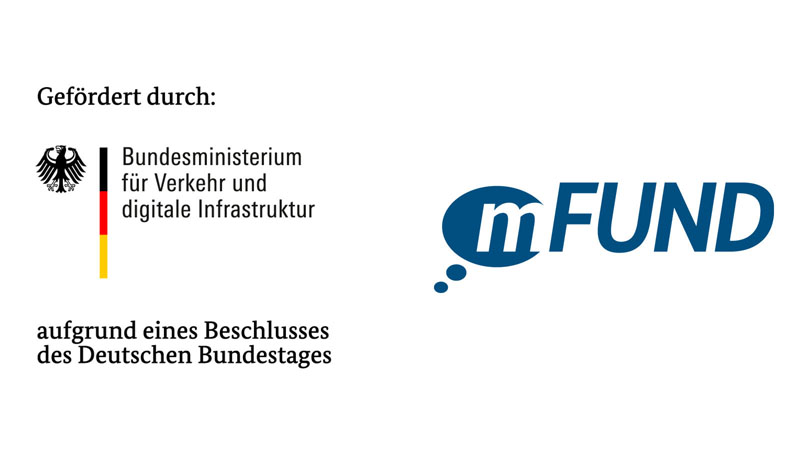 The project is funded by the Federal Ministry of Transport and Digital Infrastructure. FKZ: 19F2065A